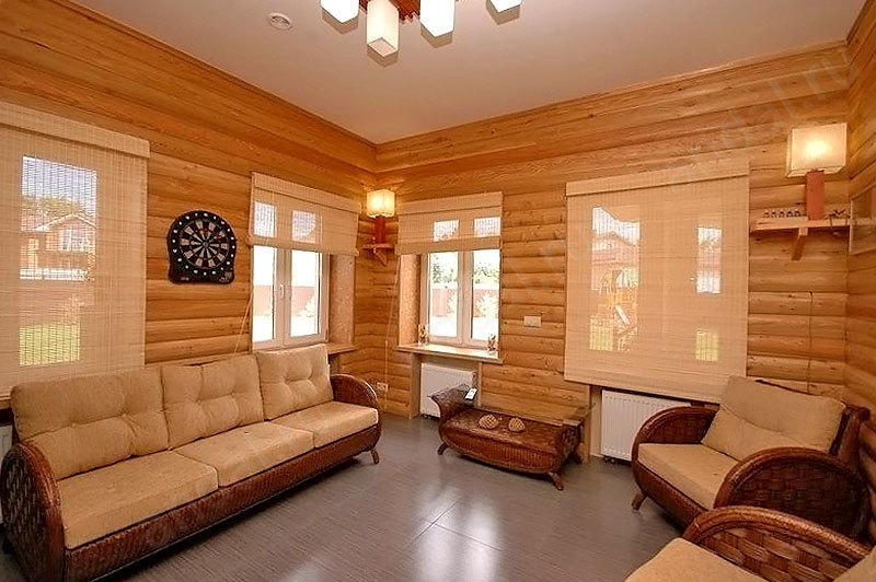 Блок хаус для внутренней отделки загородного дома