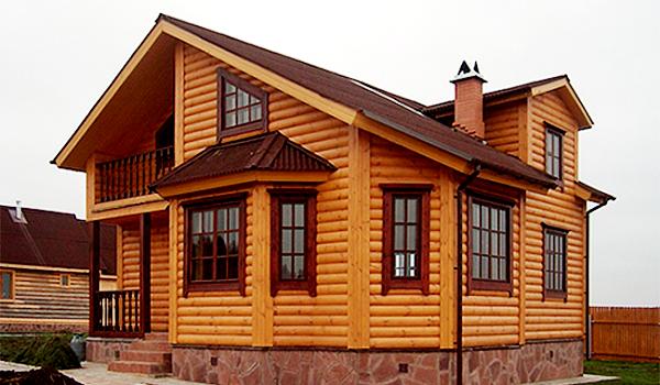 Блок - хаус и фальшбрус – современные материалы для отделки фасада дома