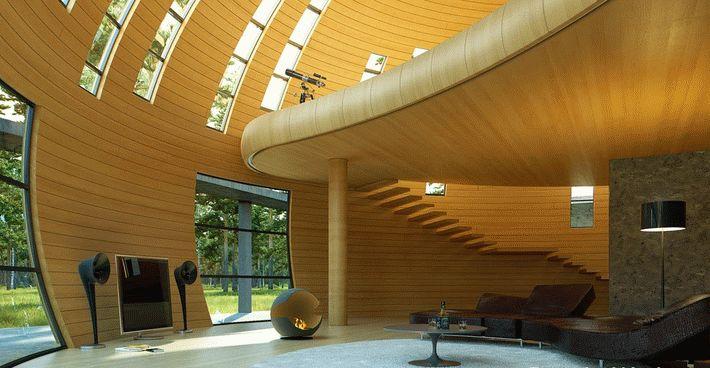 Блок хаус является новым современным строительным материалом