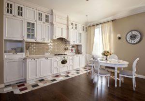 Декор интерьера красивой кухни в стиле Прованс
