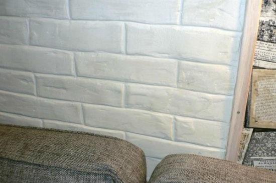 Покраска стен под кирпичную кладку фото