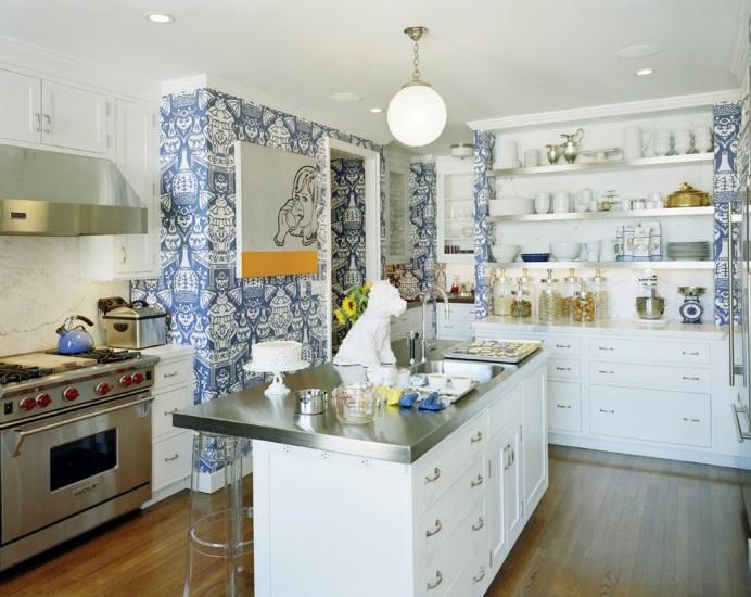 Дизайн обоев для кухни