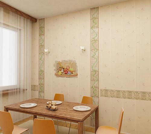 Дизайн отделки кухни панелями