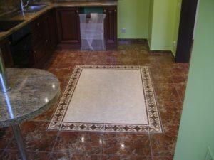 Дизайн плитки для кухни на пол