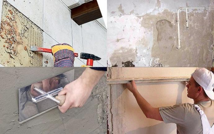 Этапы подготовки к укладке плитки