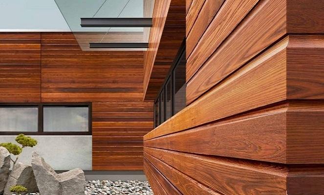 Фасадные деревянные панели, как выглядят