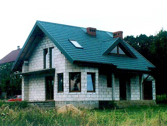 Фото домов из газобетона своими руками