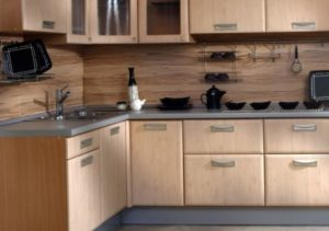 Фото ламинированного фартука на кухне