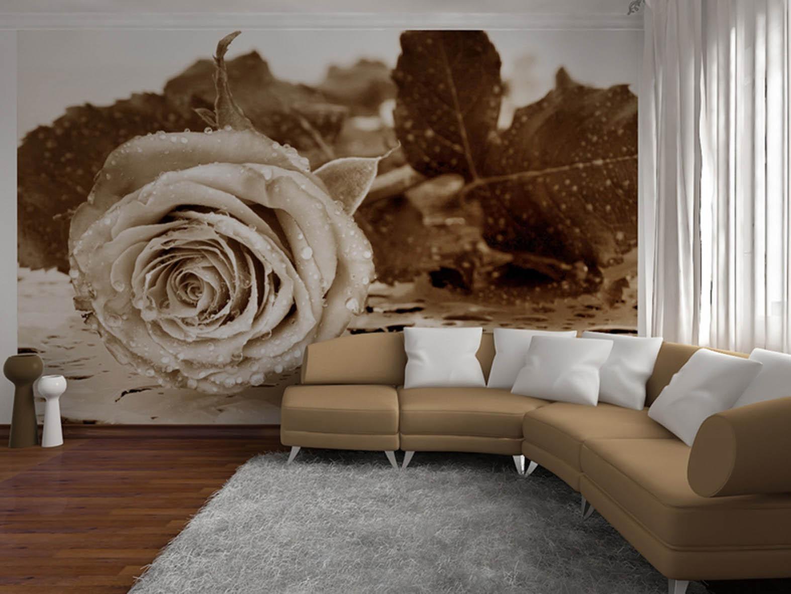 Фотообои розы в интерьере фото в гостиной фото