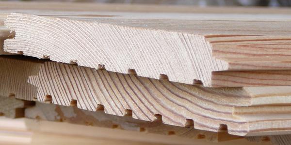 Имитация бруса из хвойной древесины