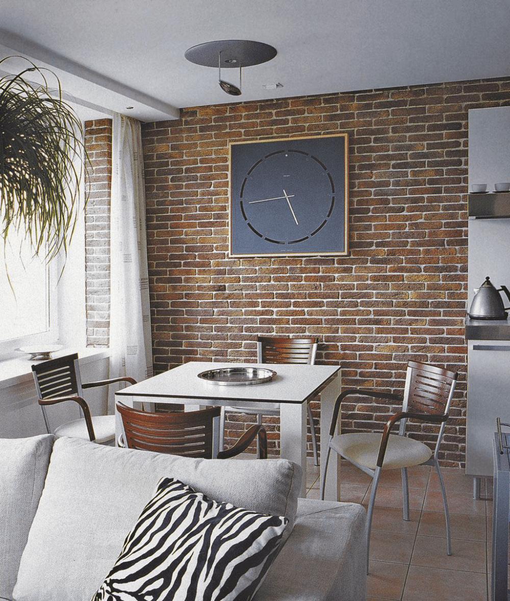 Интерьер с декоративной плиткой