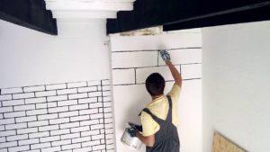 Как нарисовать кирпичи на стене, что бы было стильно