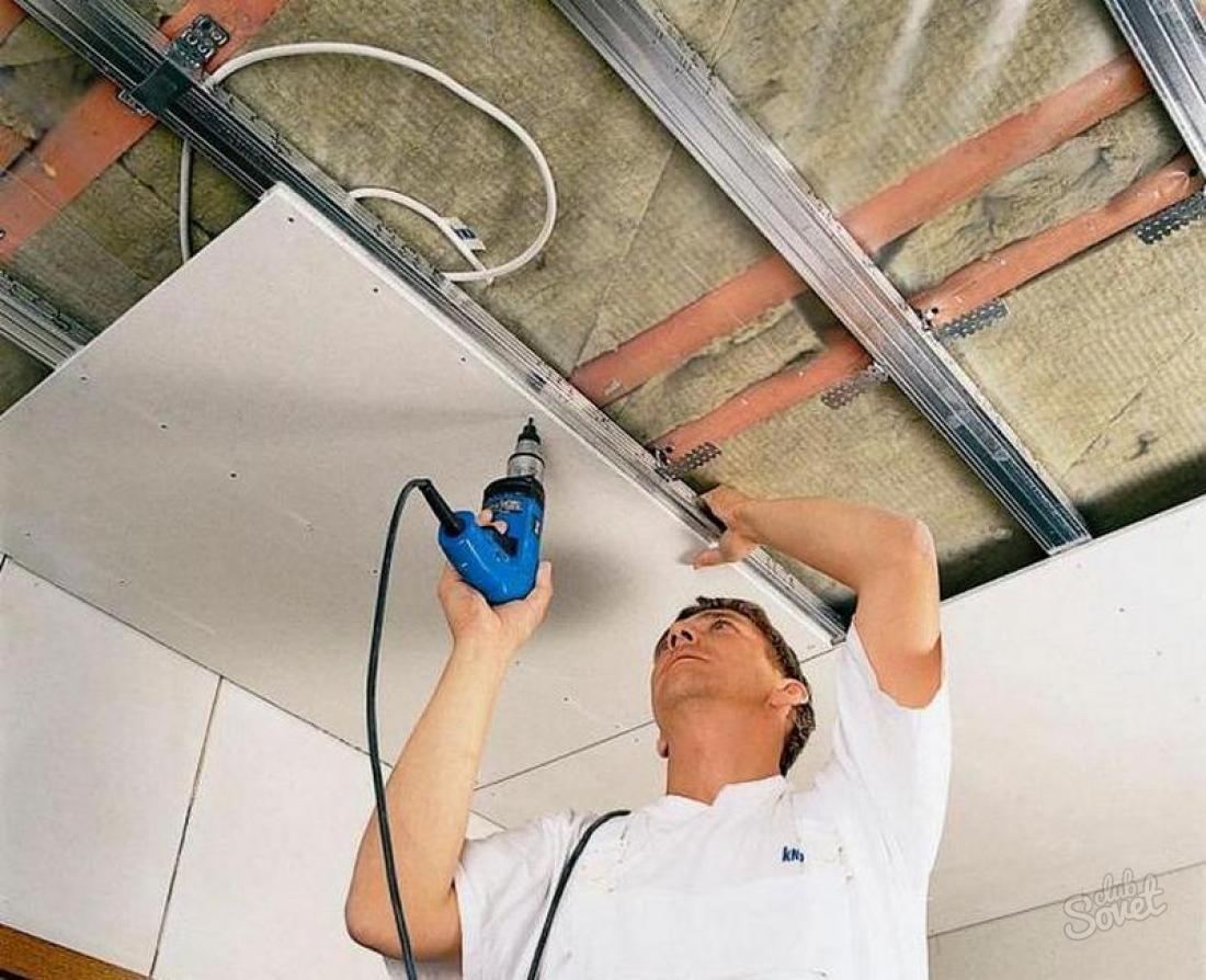 Как установить гипсокартон на стену своими руками