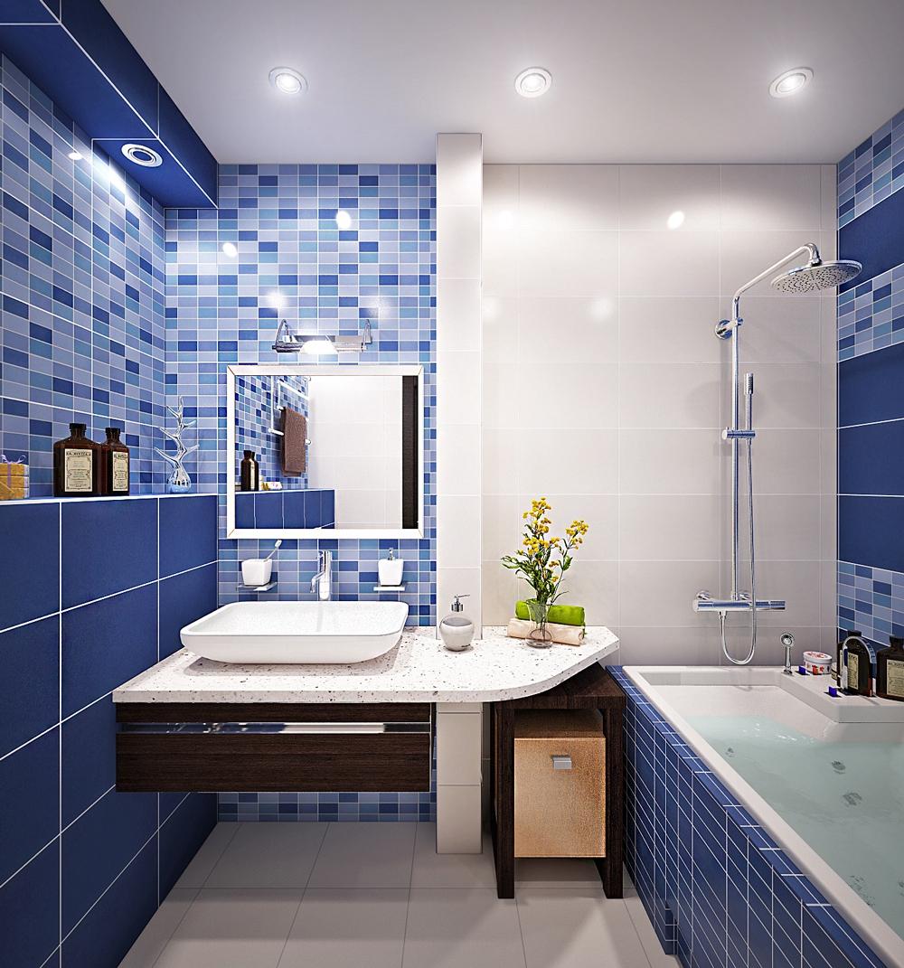 Какие бывают варианты отделки ванной комнаты плиткой