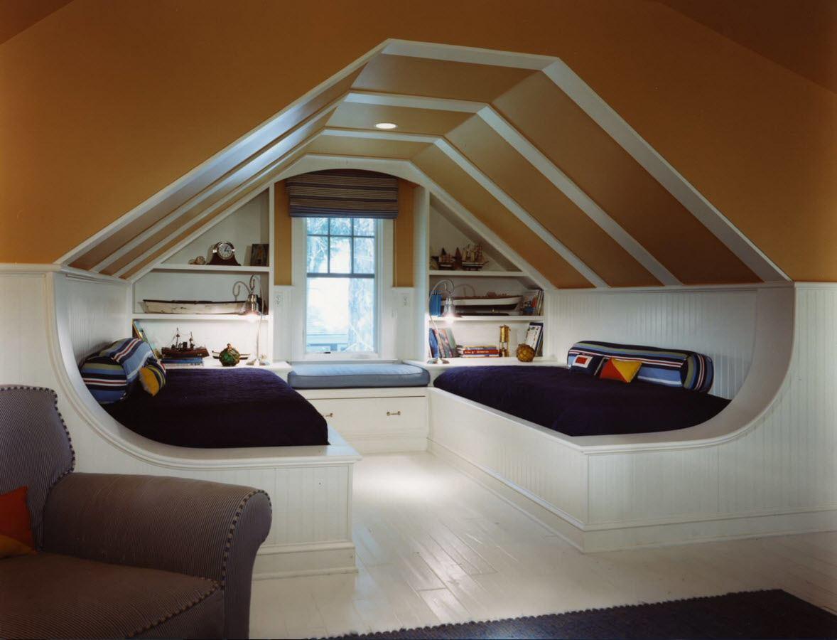 Комната для гостей на чердаке