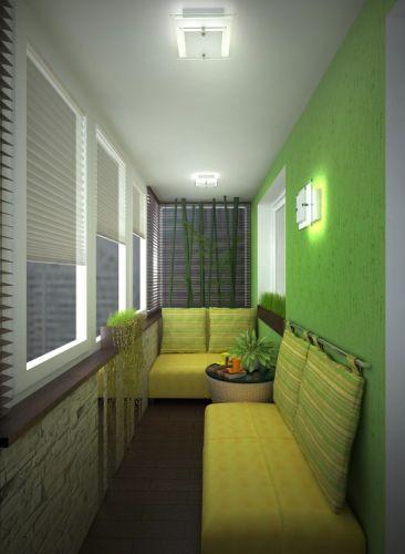 Красивая и удобная мебель для гостиной лоджии