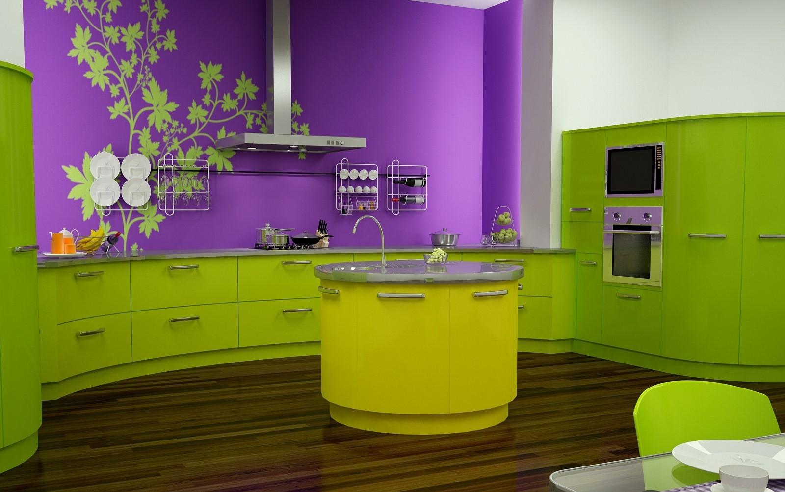 Краска на стенах в кухне