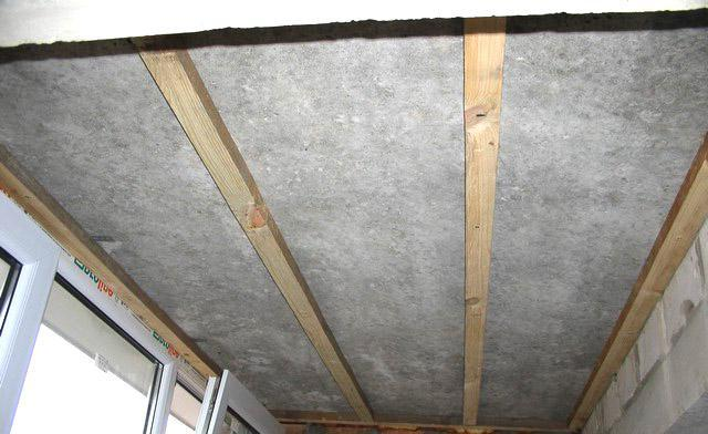 Крепеж обрешетки на потолок