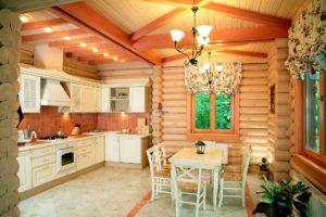 Кухня в деревянном доме