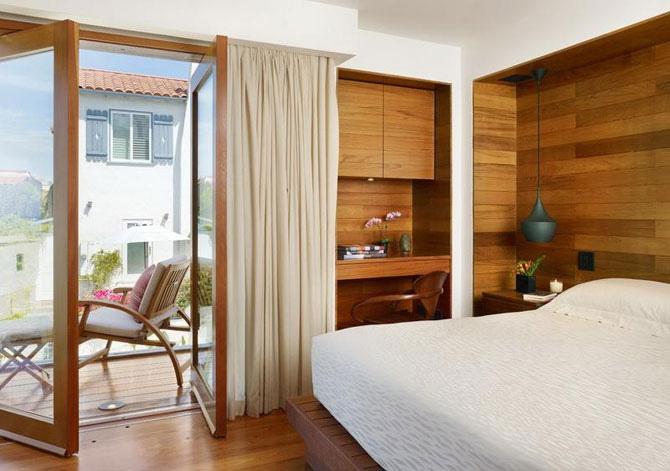 Ламинат в дизайне спальни