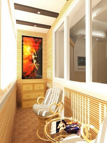 Мебель из ротанга для лоджии