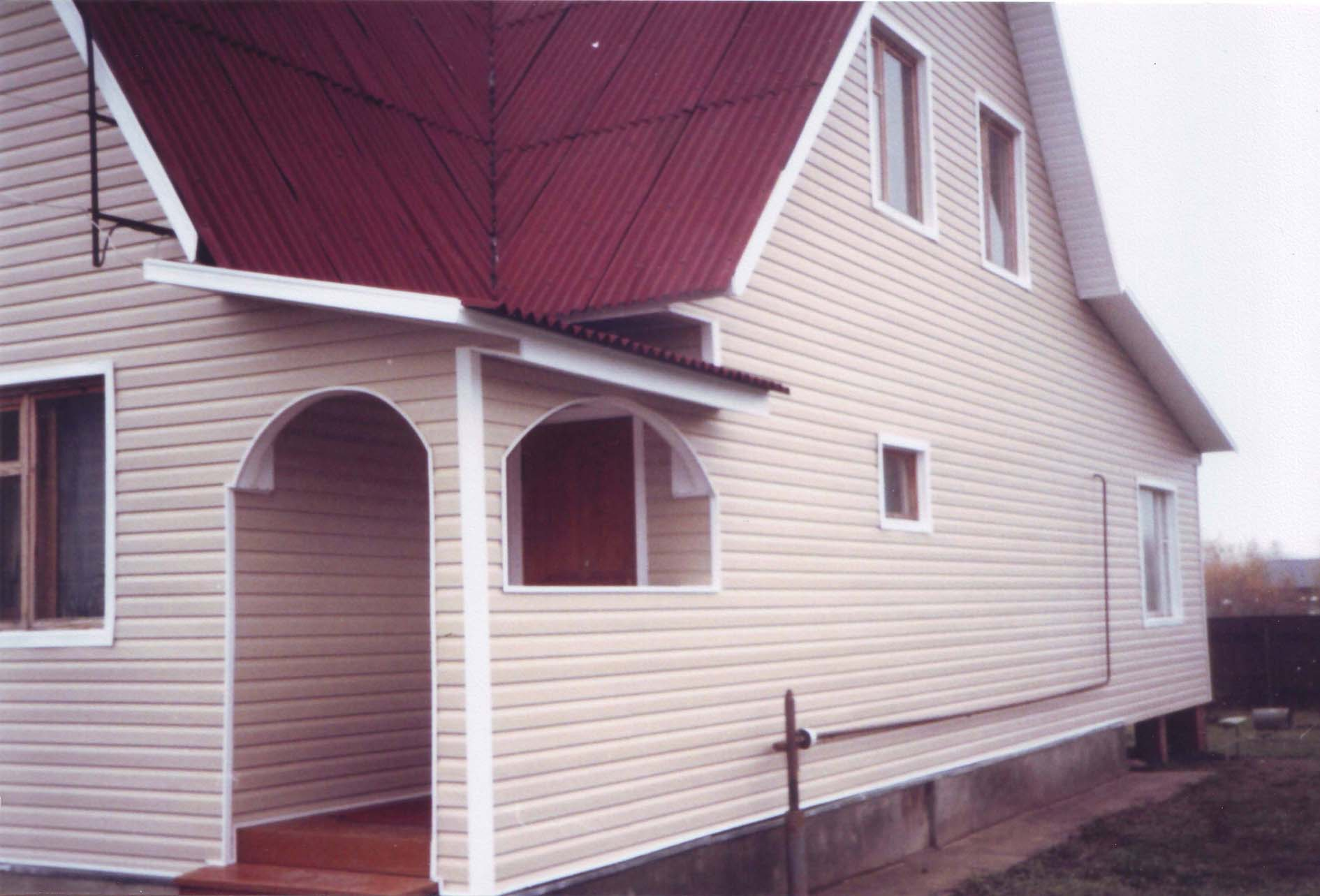 Навесная фасадная система с использованием винилового сайдинга