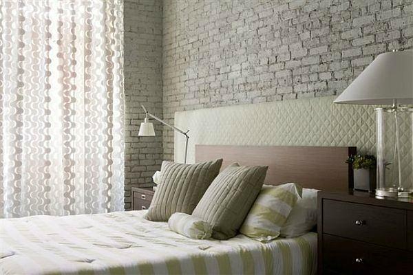 Необычное оформление стен в спальне