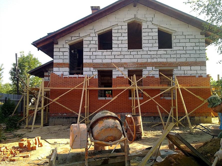 Облицовка нового дома