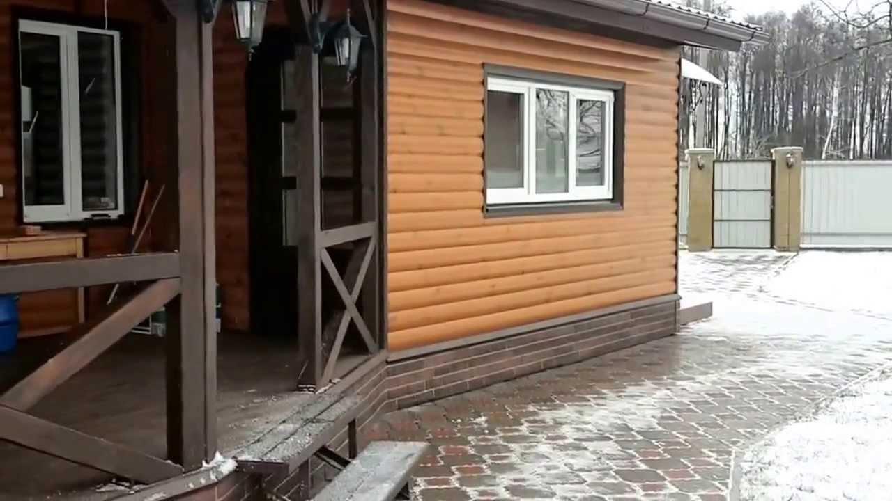 Обшивка дома блок хаусом, пример