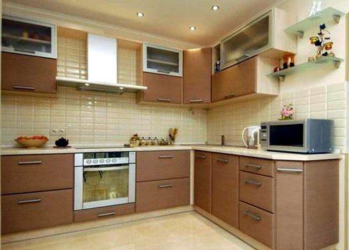 Один из популярных вариантов отделки кухни