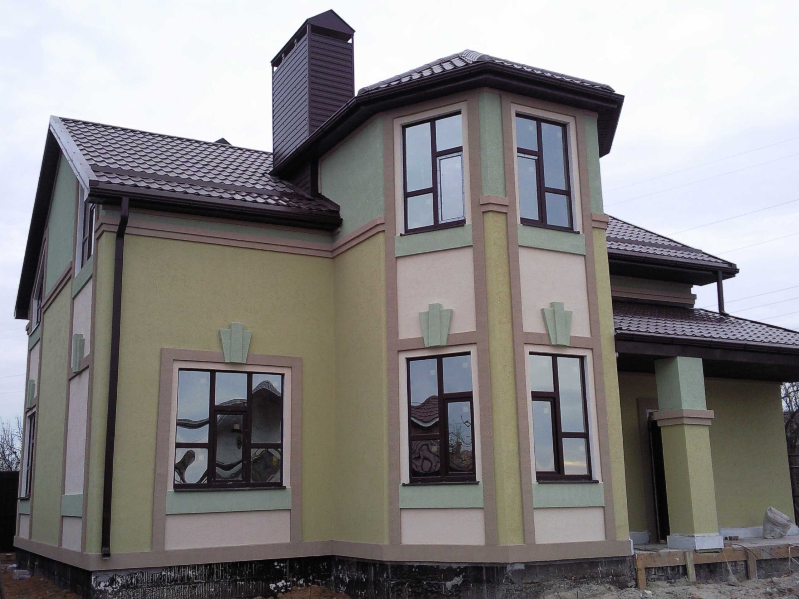 Оформление мокрый фасад