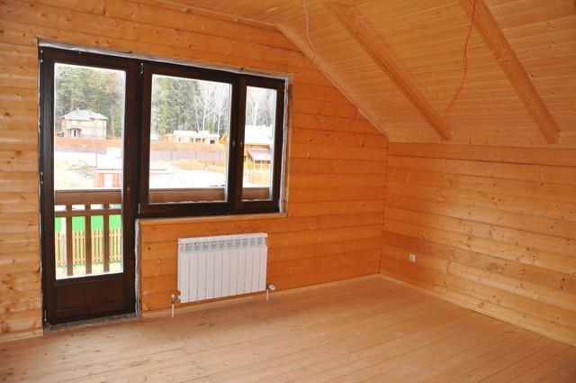 Отделка блок хаусом внутри дома, примеры оформления