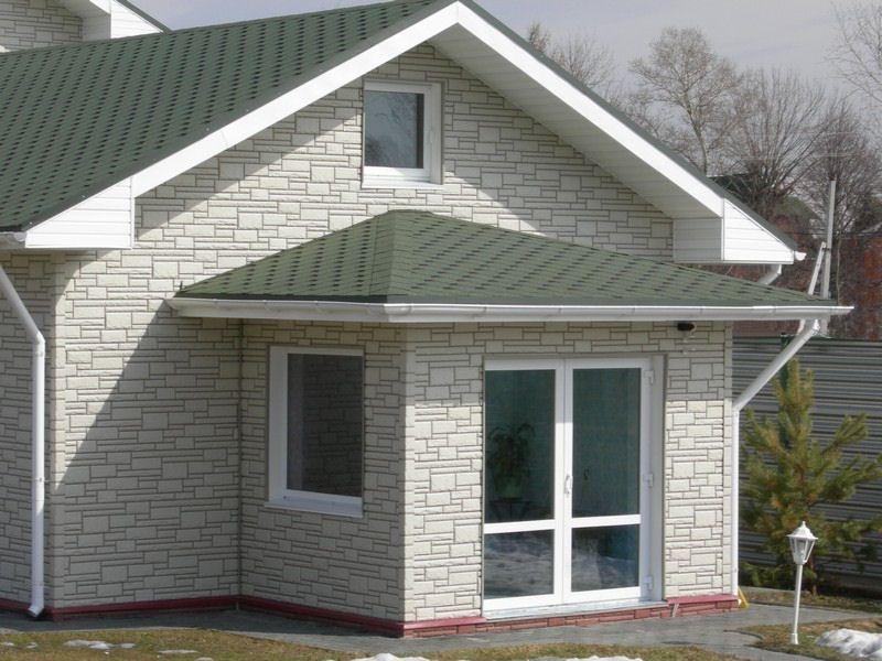 Отделка частных домов фасадными панелями
