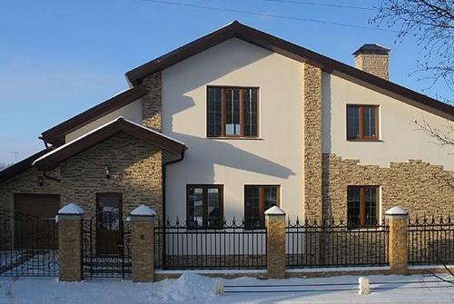 Отделка фасада дома - советы по выбору материала