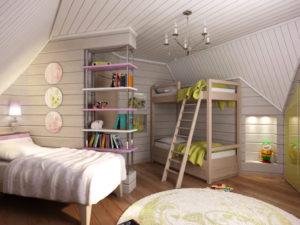 Отделка интерьера детской комнаты матовой акрилатной эмульсией