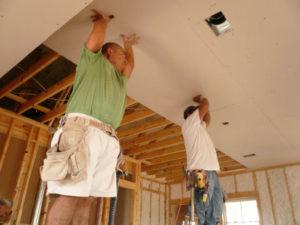 Крепление гипсокартона на потолок
