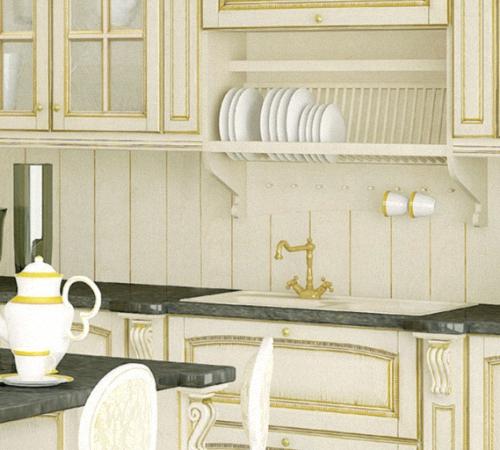 Отделка стен кухни панелями
