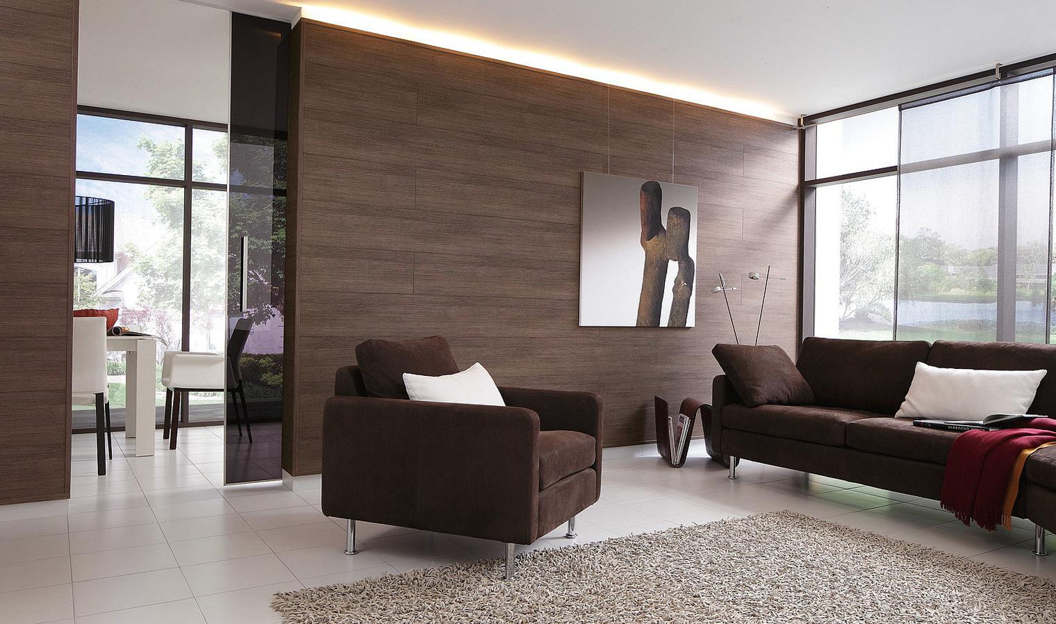 Отделка стен ламинатом - дизайн, способы крепления
