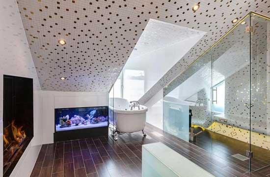 Отделка ванной комнаты на мансарде