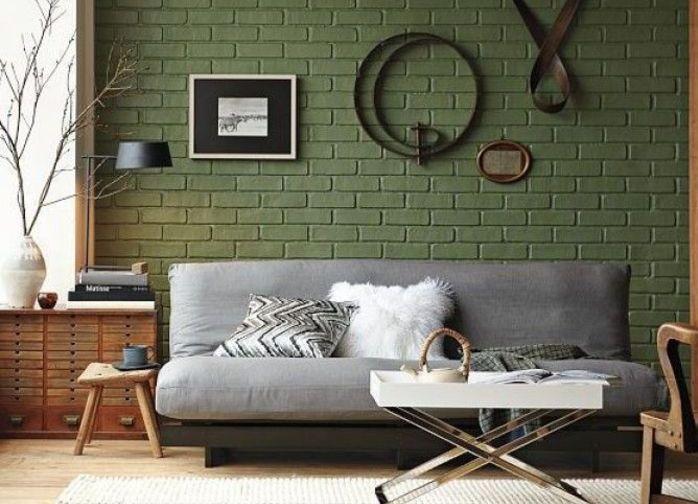 Панели в зеленом цвете