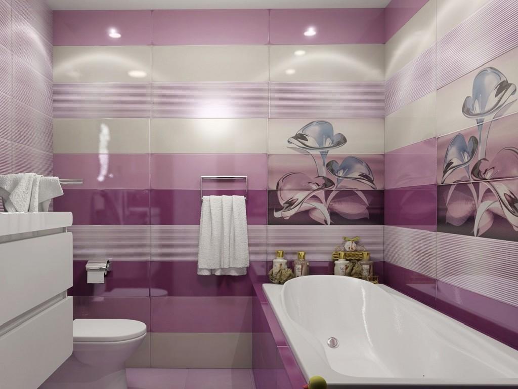 Плитка марацци на стенах и полу в ванной комнате