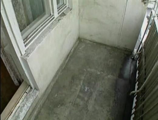 Балкон, подготовленный к отделке