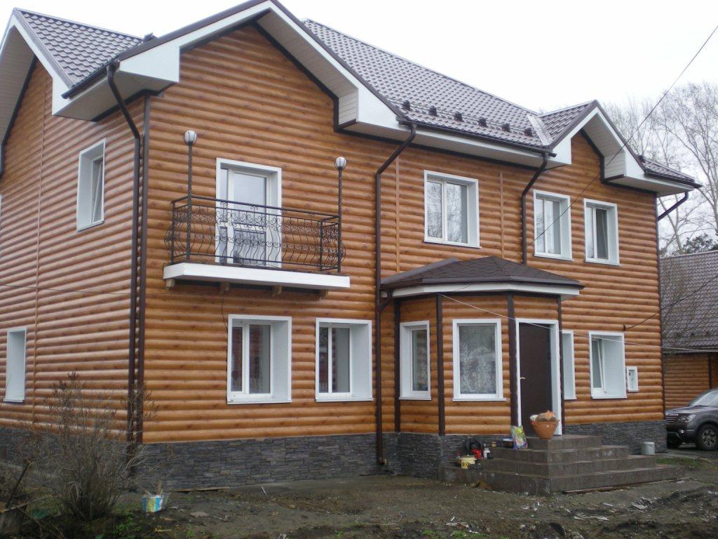 Применение металлического блок хауса
