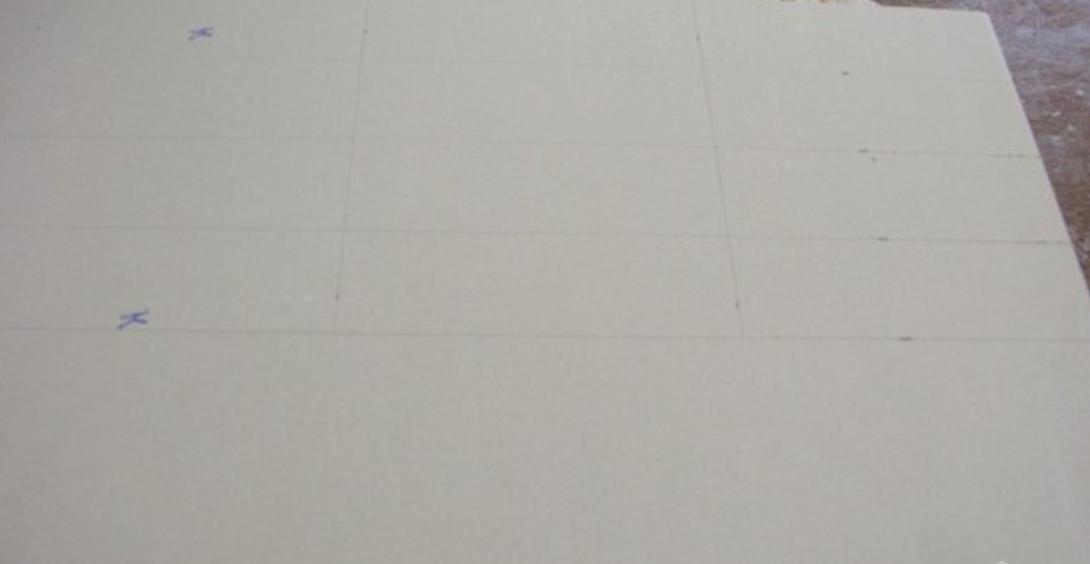 Разметка гипсокартонного листа