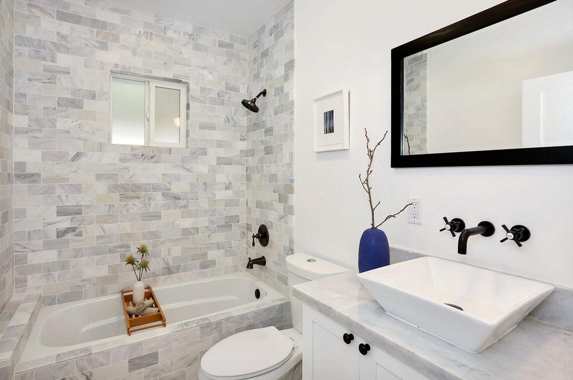 Способы отделки плиткой ванной комнаты, фото вариантов дизайна