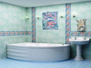 Ремонт ванной комнаты панелями ПВХ можно произвести двумя способами