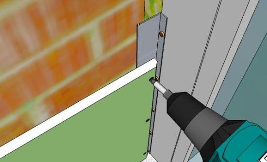 Схема установки откосов из гипсокартона на профиль