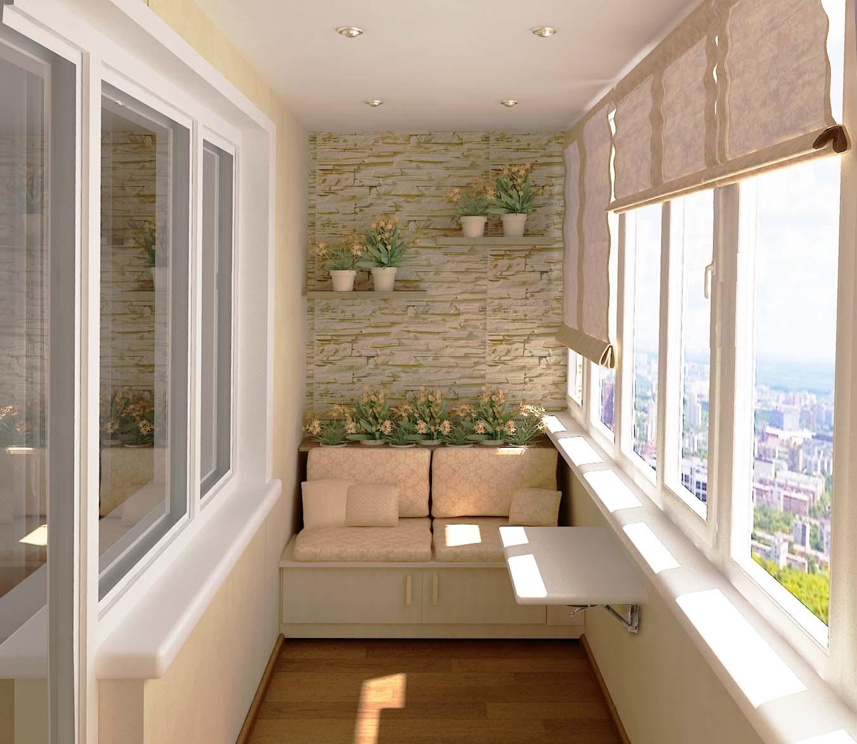 Современное оформление балкона
