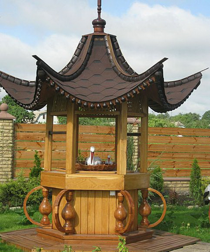 Строительство декоративного колодца