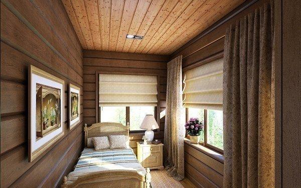 Так может выглядеть интерьер дома, отделанного имитацией бруса